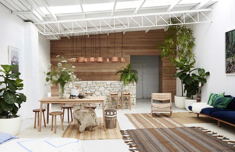 Thật khó để rời mắt khỏi mẫu phòng khách này, các chậu cây xanh đã kết hợp và tạo nên một không gian sinh hoạt thật lôi cuốn