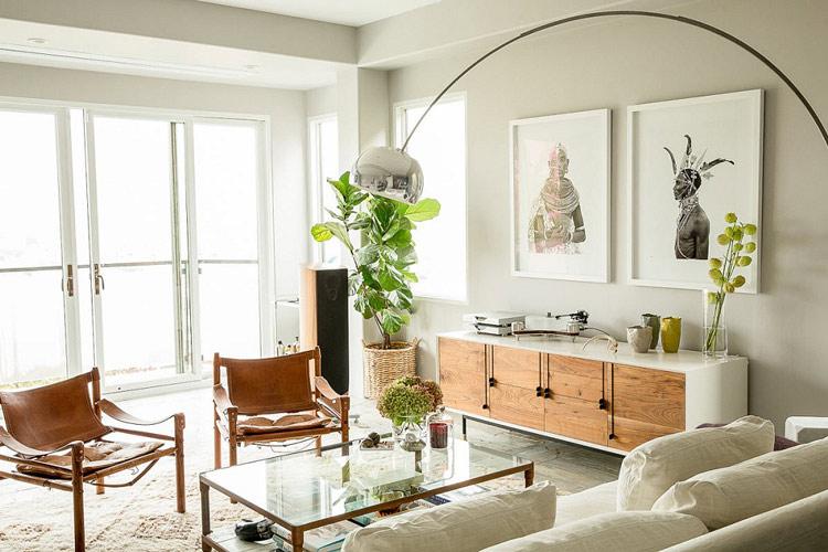 Những chậu cây làm từ mây tre đan luôn có sức hút mãnh liệt khi đặt trong không gian phòng khách